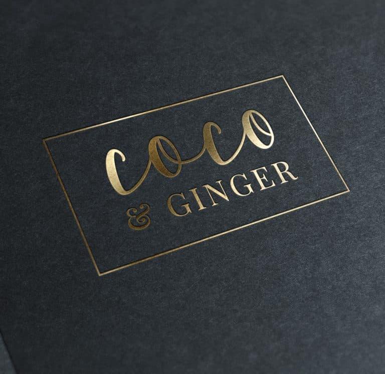 Coco & Ginger gold foil logo