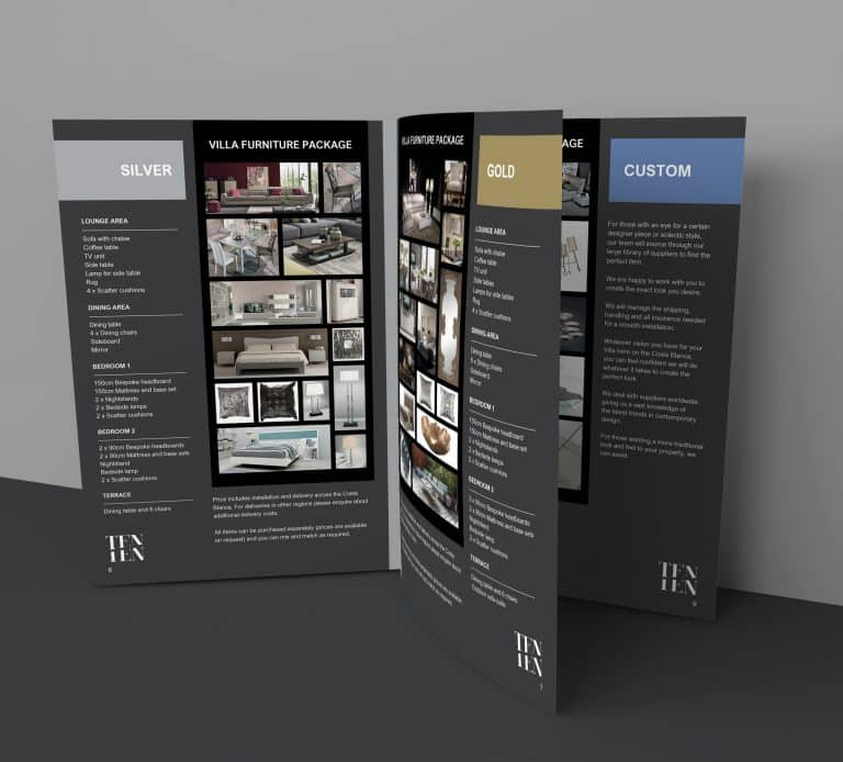 Shuga Designs graphic and website design surrey - tenten catalogue